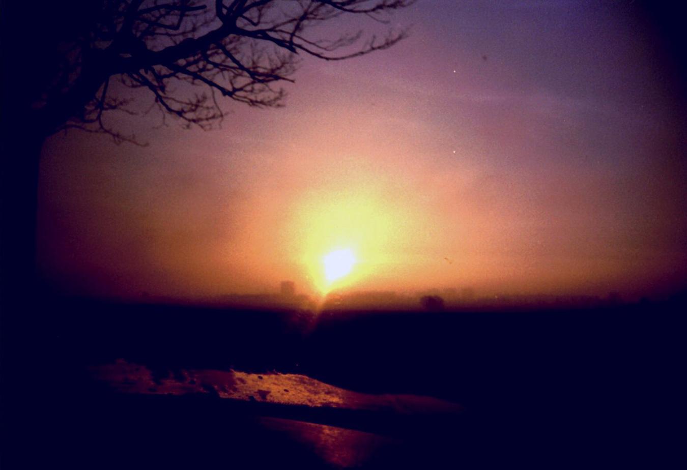 Lomografie – Sonnenuntergang über der Ostsee