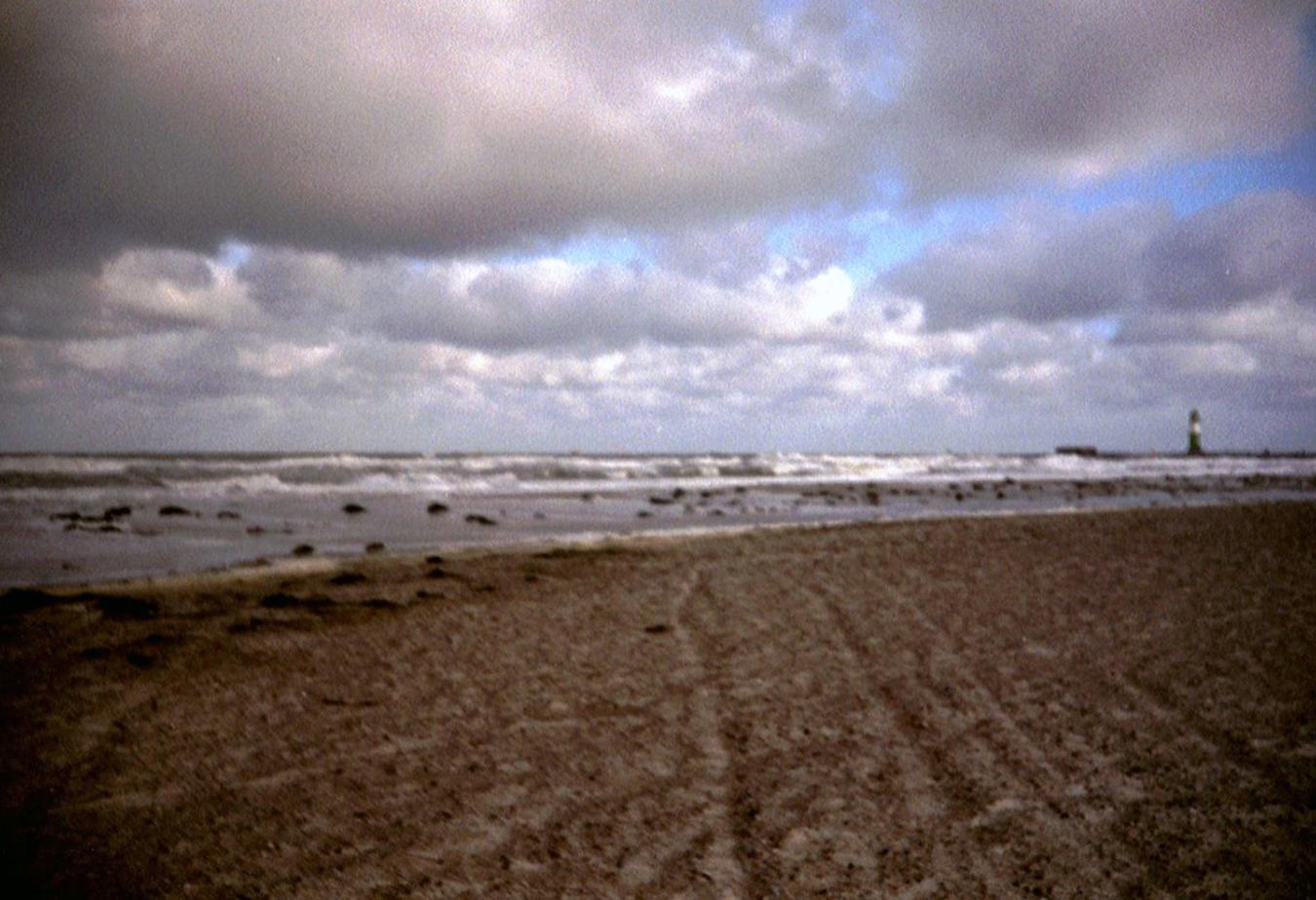 Lomografie – Strandspuren in Warnemünde