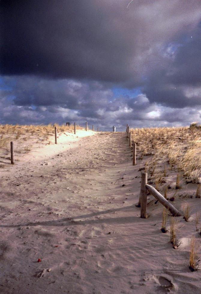 Lomografie – Strandaufgang zur Ostsee