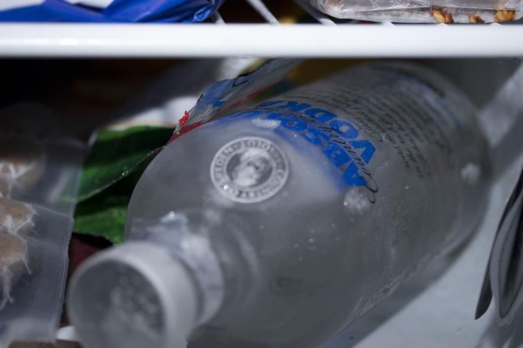 Der gemeine Vodka mag es frostig-kalt