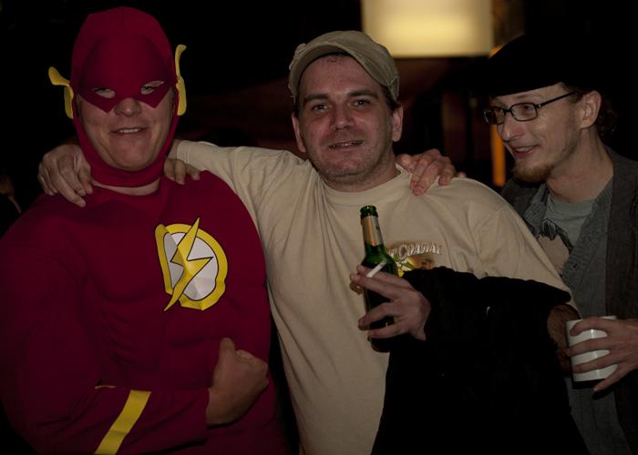 Der Flash hält kurz für ein paar Photos