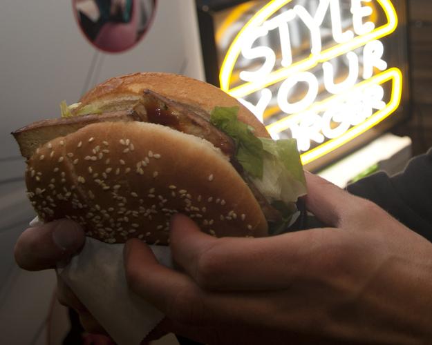 gestylter Burger